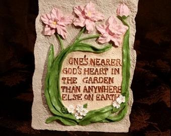 Inspirational Garden Plaque