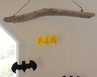 Batman Driftwood baby mobile