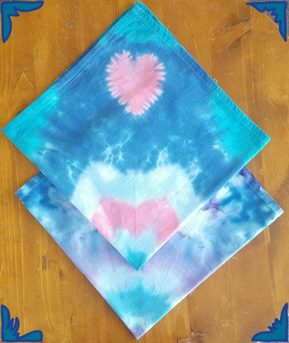 Tie Dye Kitchen Towels 2 Piece Set Tea Towels 28x28 Inches