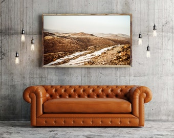 Photography + Black Frame - The mountains of Matmata - Tunisia