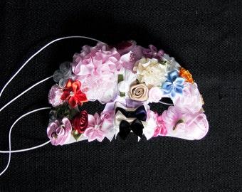 SALE - Kawaii Flower Child Lolita Harajuku Lolita Fairy Kei Avant Garde Masquerade Mardi Gras Floral Avant Garde Costume Mask Ready To Ship!