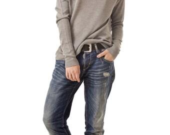 Bamboo Grey Cowl Neck SweaterWinter ClothingWomen's