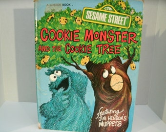 Cookie Monster and the Cookie Tree, Sesame Street, Jim Henson, Vintage 1970s Children's Book, 1977