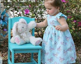Toddler Dress, Girls Dress, Shabby Chic Carousel Dress, Vintage Inspired Dress, Aqua Dress by Ava and Bash