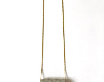 Concrete origami necklace