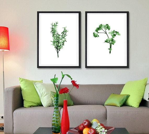 thymian petersilie kunstdruck festgelegt pflanzliche k che. Black Bedroom Furniture Sets. Home Design Ideas