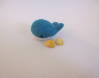 Cute kawaii needle felted whale keepsake small gift or party favor