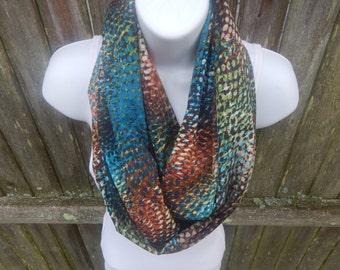 Silky Multi Color Infinity Scarf