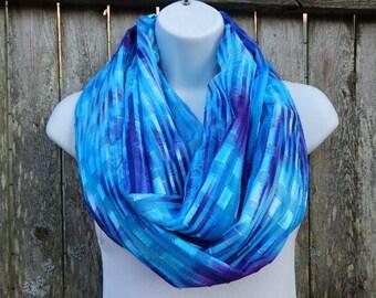 Blue / Purple / Sheer Infinity Scarf