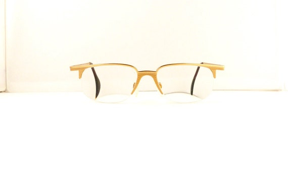 Eyeglasses Frame Made In Germany : Cazal Eyeglasses Frames // Unisex 1990s//Two Tone Gold