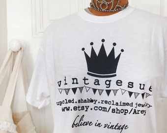 VINTAGESUE tee shirts~size L 100% cotton TEE!!~really cool large logo! Arey Tee Shirts, vintagesue