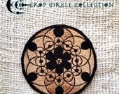 Sacred Geometry Crop Circle Patches - Crop Circle Collection (04 BLACK GOLD)
