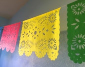 2 Hand Cut Papel Picado Banners - Any Occasion - Fiesta - Wedding - Baby Shower - Bridal Shower