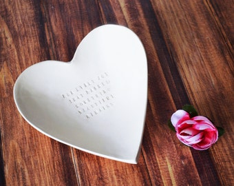 Sympathy Gift - Large Heart Bowl - For Every Joy That Passes Something Beautiful Remains - With Gift Box