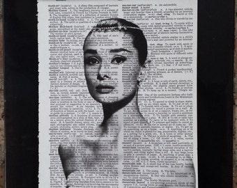 Audrey Hepburn Dictionary Print