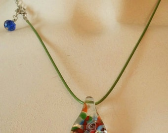 Floral Monochromatic Glass Bead  Necklace