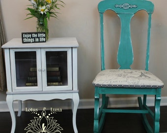 Tatarian Turquoise Rocking Chair