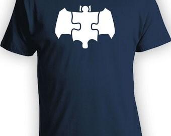 The Dark Puzzle Piece - Autism Puzzle Piece Symbolic, Superhero Shirt, Dark Knight, Autistic Spectrum Super Powers T-shirt Etsy Youth CT-022