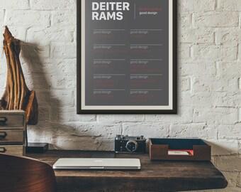 Dieter Rams - Ten Principles of Good Design - Minimalist Poster - Digital Download