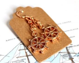 INO-Auburn rudder earrings