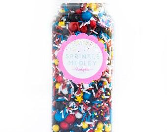 16oz (2 cups) Let's Motor Sprinkle Medley, Gluten-Free, Boy Sprinkles, Cars