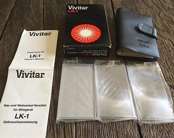 ON SALE - Vintage Vivitar Flash Lens Kit - 3 Vivitar Flash Lens Filters - Vivitar LK-1 Lens Kit - Camera Flash Lenses