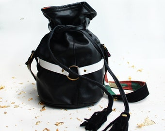 AMARA leather bucket bag
