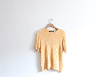 Slouchy Yellow Chenille Sweater