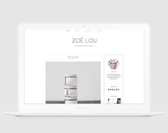 Minimal WordPress Theme, Responsive WordPress Website, Lifestyle & Fashion WordPress Theme. Modern Blog Template, Clean WordPress Theme