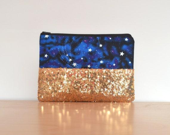 Glow in the dark clutch bag christmas clutch galaxy clutch for Glow in the dark galaxy fabric
