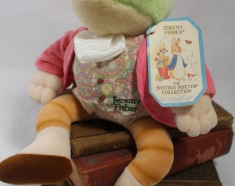 JEREMY FISHER by Eden, The Beatrix Potter Collection  ~ Pre-Owned with Tag, Sooooo Cute! 1996