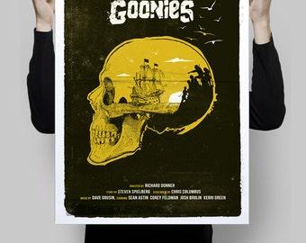 Alternative The Goonies poster film print skull never say die movie cinema wall art home decor geek print