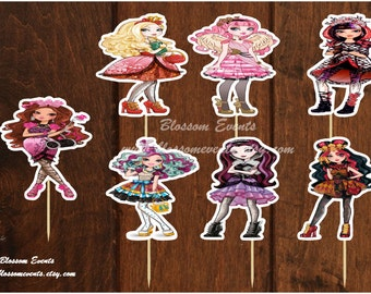 Ever after high cupcake toppers (12)