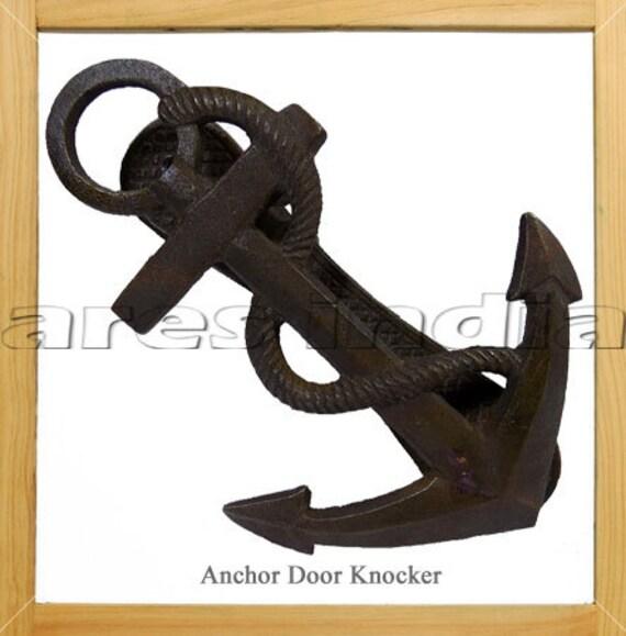Antique Vintage Style Iron Anchor Door Knocker Antique Color