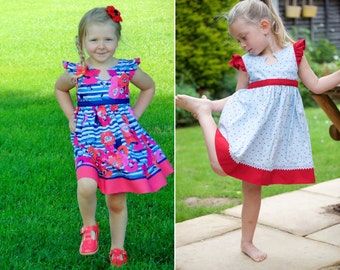 50% SALE !!!! Debut Dress, Sizes 2T - 8,10 & 12 : Girls sewing pattern by Sew Honey Designs