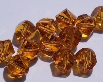 Close Out!  Topaz Twist Swarvoski Crystal, 6 mm, Pkg of 12, Helix 5020