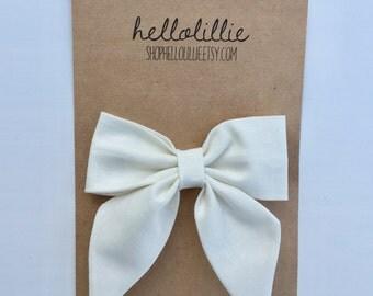 Cream Sailor Bow