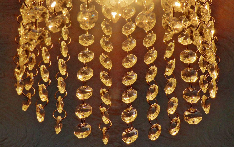 1000 Chandelier Drops Light Parts Acrylic Glass Mix Antique Rings ...
