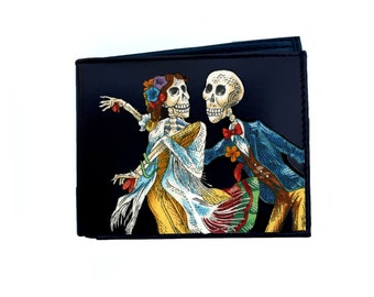 Skeleton Couple Dancing Day of the Dead Wallet
