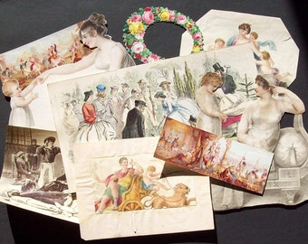 Mid-Victorian cut-outs  for scrap booking or craft project.