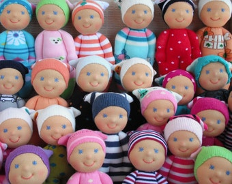 SALE -Waldorf style Organic Rag dolls for sale - Buy three and get one  FREE  - do not purchase this listing, it's just an information