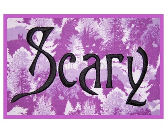 "Scary Embroidery Font Set – .5"" 1"" 1.5"" 2"" 2.5"" 3″ - Machine Embroidery Font Alphabet - Halloween Embroidery Font - Instant Download Files"