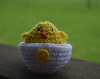 Chick in Egg Crochet Stuffie - Made to Order