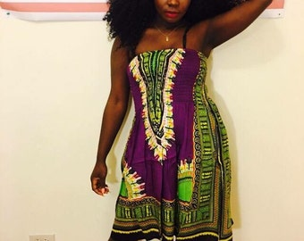 Dashiki Tube Dress