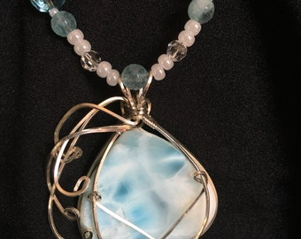 Larimar Pendant Necklace