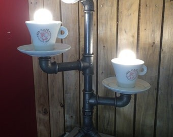 Table lamp factory factory steampunk vintage cast iron coffee