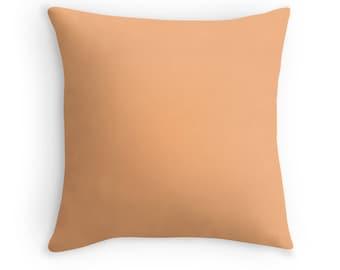 Solid Soft Orange Pillow, Soft Orange Throw Pillow, Orange Decorative Pillow, Orange Toss Pillow, Orange Decor, Orange Cushion, Orange Room