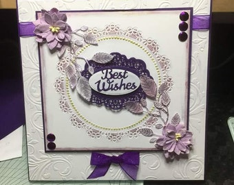 Hand made best wishes card
