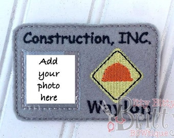 Personalized Construction ID card