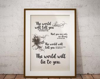 Printable Art, Inspirational Quotes, Typography Art, Digital Prints, Wall Art Prints, Digital Download